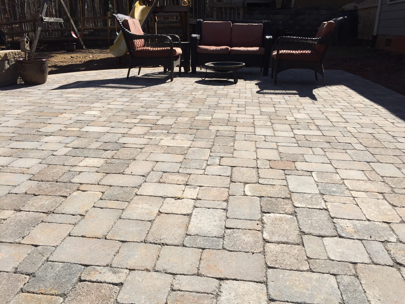 Paver Patio With Retaining Seating Wall Mr Outdoor Living