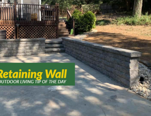 Retaining Wall – Outdoor Living Tip of the Day
