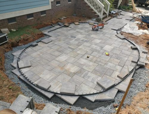 Seating / Retaining Walls and the base of a Paver Patio