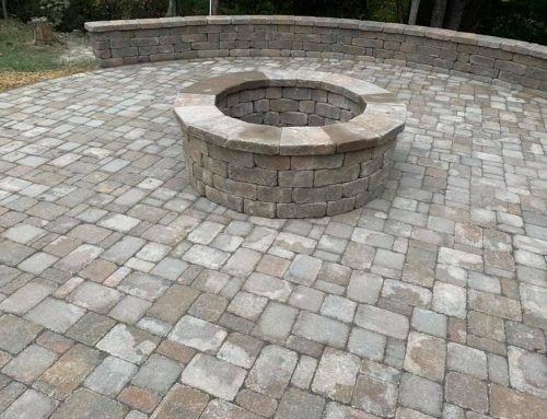 Fire Pit Paver Patio Island with Seating Wall – Outdoor Living Tip of the Day