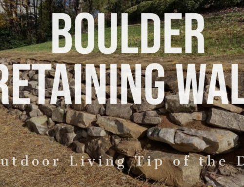Boulder Retaining Wall – Outdoor Living Tip of the Day